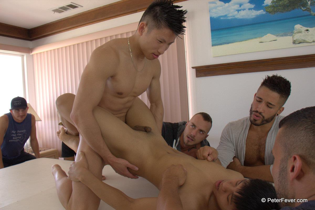 PeterFever-S5E12-Jessie-Lee-and-Robin-Cadiz-Big-Cock-Asians-Fucking-Amateur-Gay-Porn-30 Amateur Muscle Orgy featuring an Asian Guy With A Big Thick Asian Cock