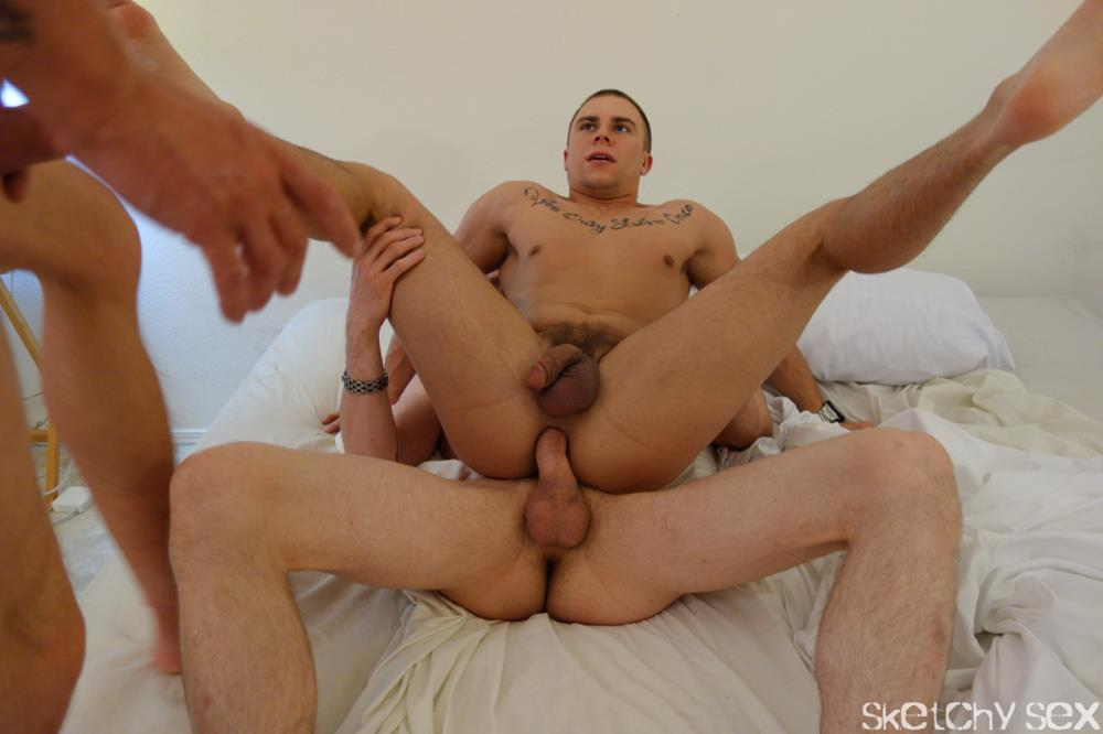 Sketchy-Sex-Eli-Bareback-Sex-Addiction-Raw-Cock-and-Cum-Amateur-Gay-Porn-12 Bareback Sex Addict Eli Takes Two Annonymous Cocks Up His Ass