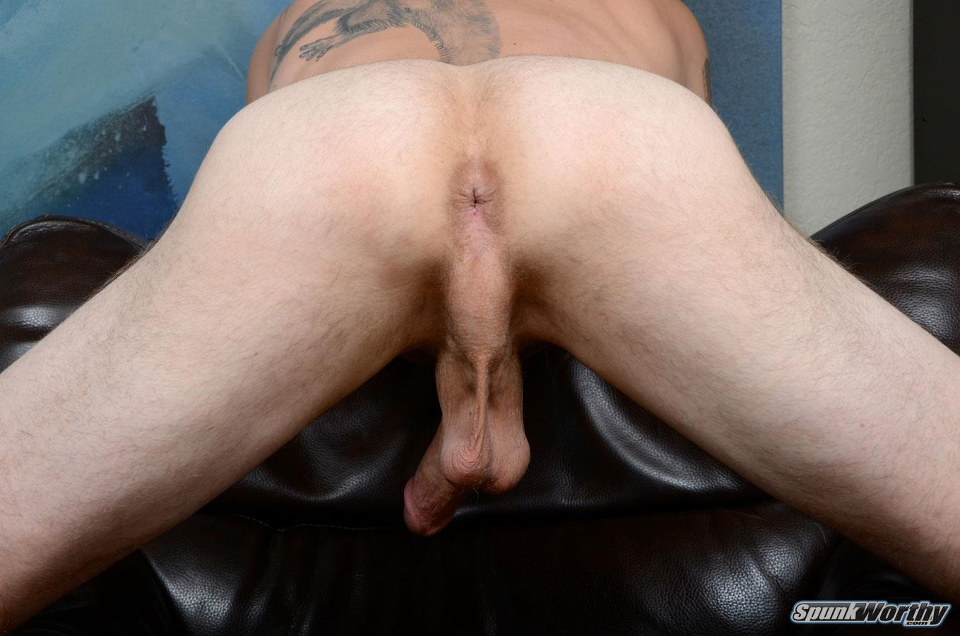 SpunkWorthy-Dane-Tatted-Marine-Masturbating-8-Inch-Cock-Amateur-Gay-Porn-11 Amateur StraightTatted Marine Jerking His Big 9