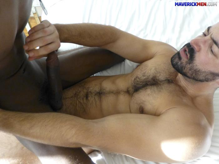Maverick-Men-Black-Boy-Chris-Ryder-Gets-Barebacked-By-Hairy-Muscle-Daddies-Amateur-Gay-Porn-2 Maverick Men Bareback Tag Team & Double Penetrate A Black Twinks Ass