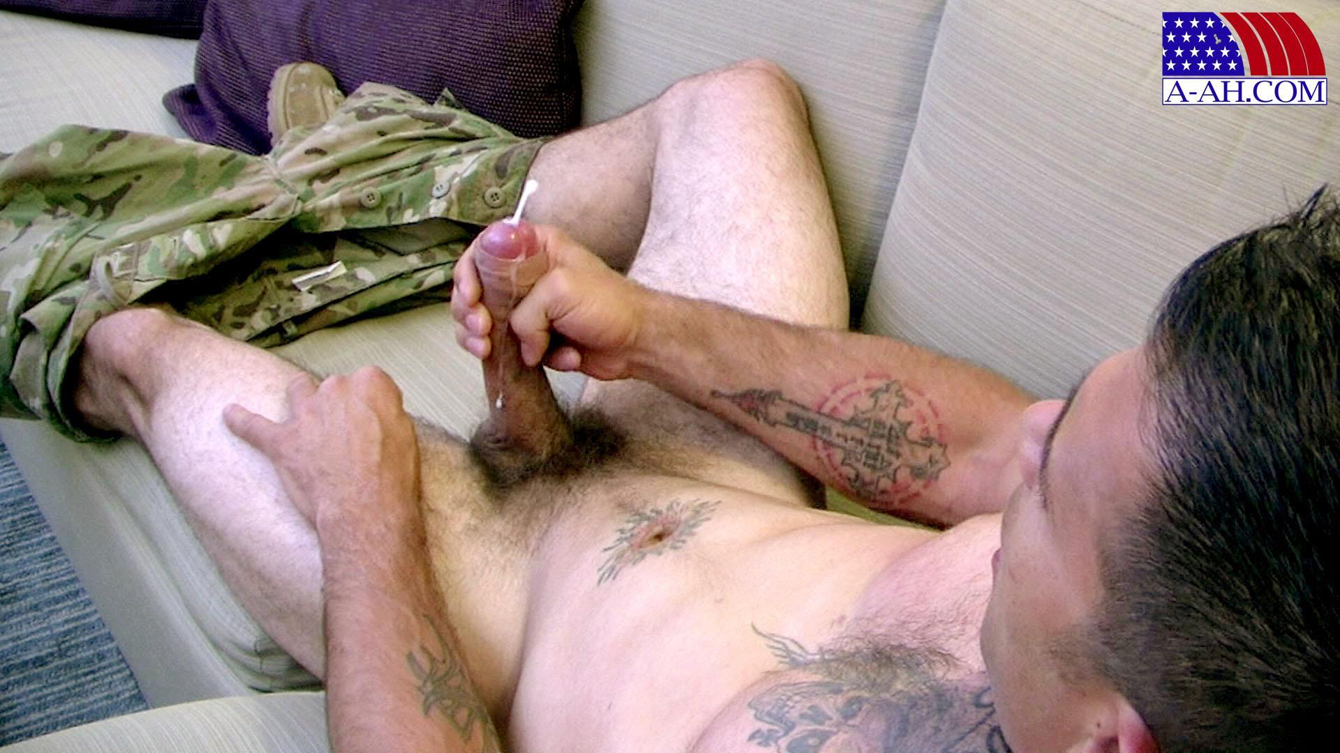 All-American-Heroes-JB-US-Amry-Soldier-Jerking-His-Big-Uncut-Cock-Amateur-Gay-Porn-15 Amateur Straight US Army Specialist Stroking His Big Uncut Cock
