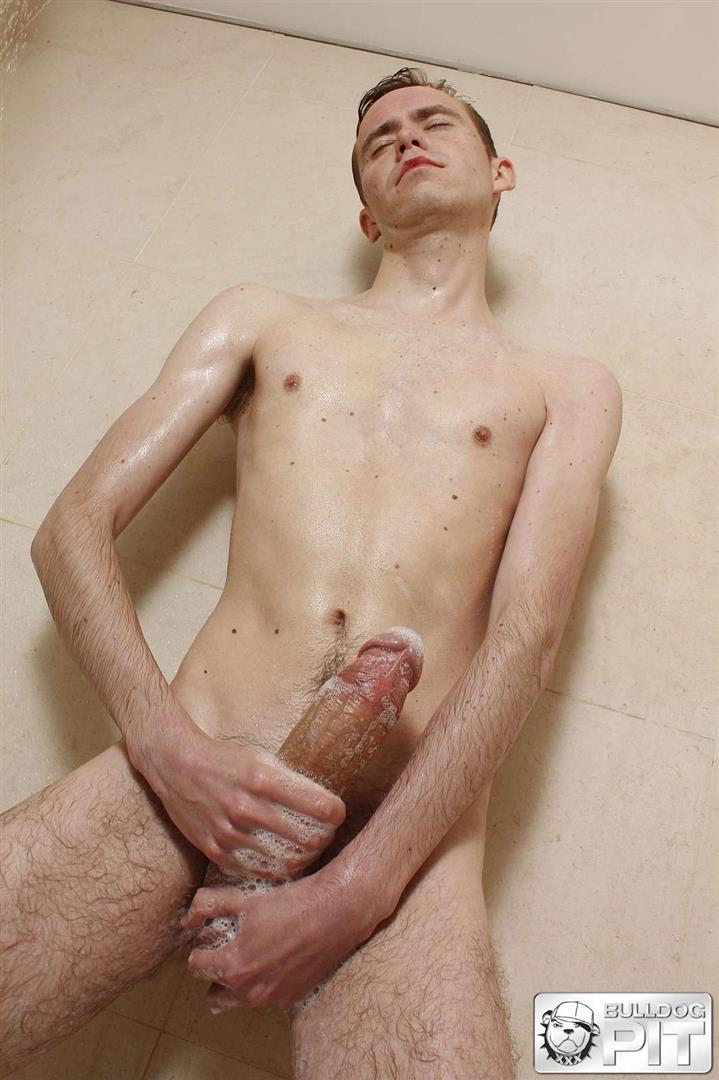 Bulldog-Pit-Steven-Prior-Twink-Jerking-Off-His-Big-Uncut-Cock-In-The-Shower-Amateur-Gay-Porn-11 Hung Twink Jerking Off His Big Uncut Cock In The Shower