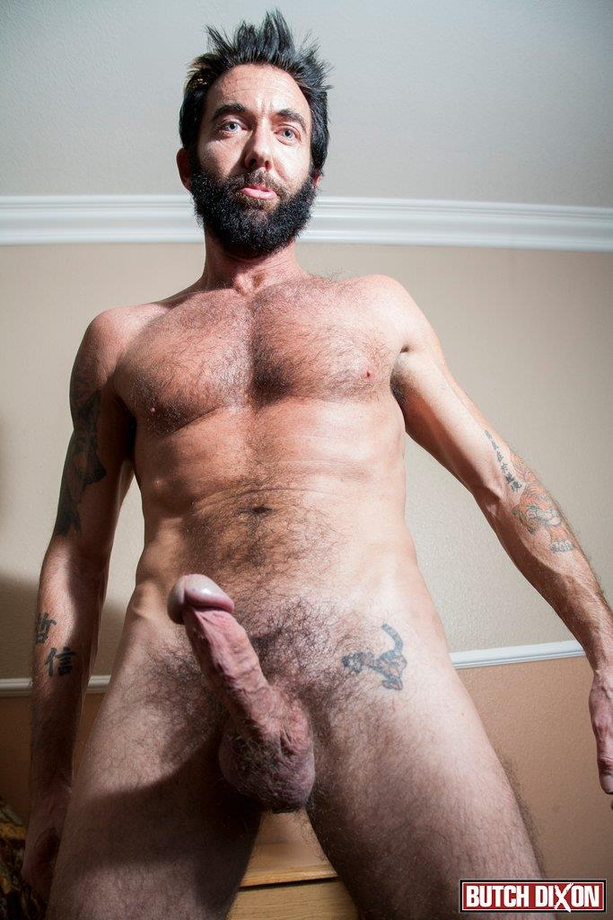 Butch-Dixon-Tom-Nero-Hairy-Daddy-Jerking-Off-A-Big-Fat-Mushroom-Head-Cock-Amateur-Gay-Porn-06 Hairy Stud Tom Nero Jerking His Thick Mushroom Head Cock