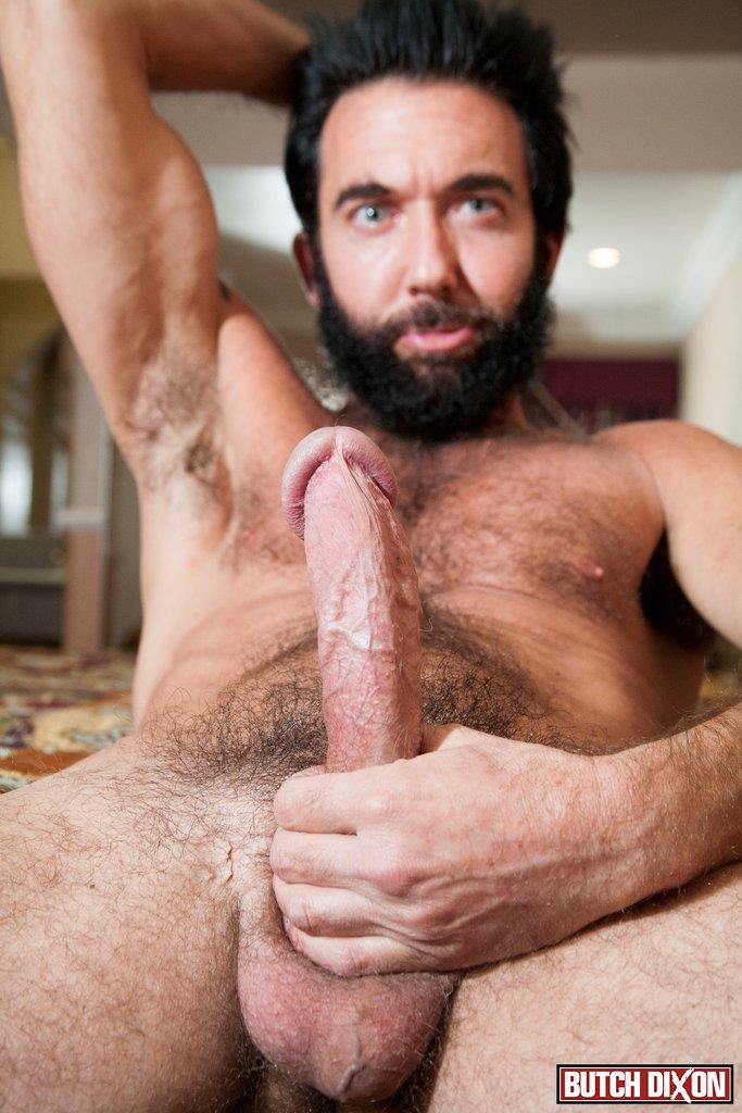 Butch-Dixon-Tom-Nero-Hairy-Daddy-Jerking-Off-A-Big-Fat-Mushroom-Head-Cock-Amateur-Gay-Porn-09 Hairy Stud Tom Nero Jerking His Thick Mushroom Head Cock
