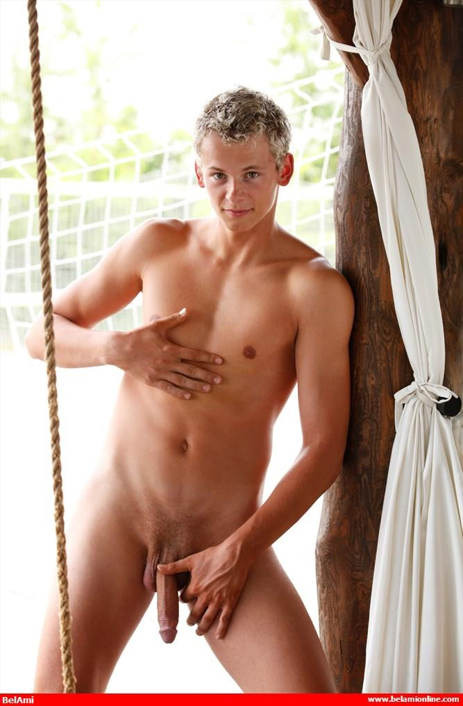 BelAmi-Jerome-Exupery-Twink-With-A-Big-Uncut-Cock-Jerking-Off-Amateur-Gay-Porn-10 BelAmi: New Twink Jerome Exupery Model With A Big Uncut Cock