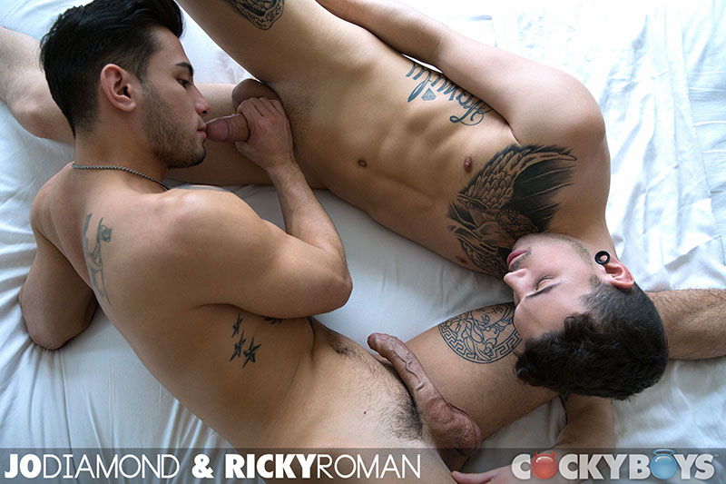 Cockyboys-Jo-Diamond-and-Ricky-Roman-Guys-With-Big-Uncut-Cocks-Fucking-Amateur-Gay-Porn-10 Cockyboys: Jo Diamond and Ricky Roman Fucking With Big Uncut Cocks
