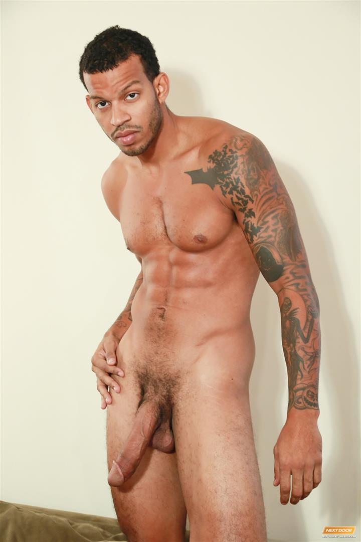 Next-Door-Ebony-Mike-Mann-Naked-Black-Man-Jerking-His-Big-Black-Cock-Amateur-Gay-Porn-14 Sexy Amateur Black Hipster Jerking His Big Black Cock