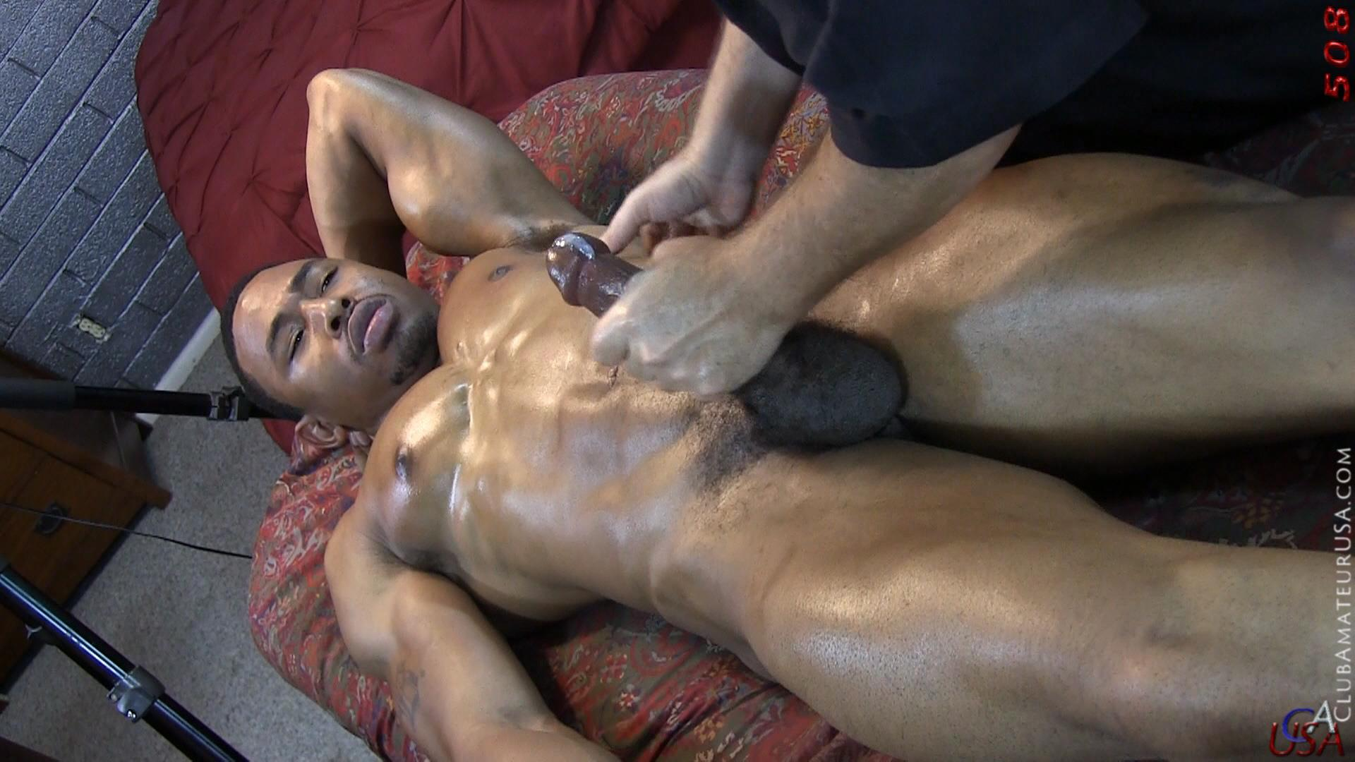 Club-Amateur-USA-Gracen-Straight-Big-Black-Cock-Getting-Sucked-With-Cum-Amateur-Gay-Porn-33 Straight Ghetto Thug Gets A Massage With A Happy Ending From A Guy