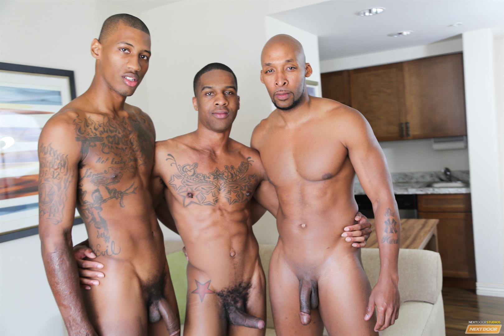 Next-Door-Ebony-Ramsees-and-King-B-and-Staxx-Big-Black-Cock-Group-Sex-Amateur-Gay-Porn-05 King B Takes Two Big Black Cocks Up The Ass For His Birthday