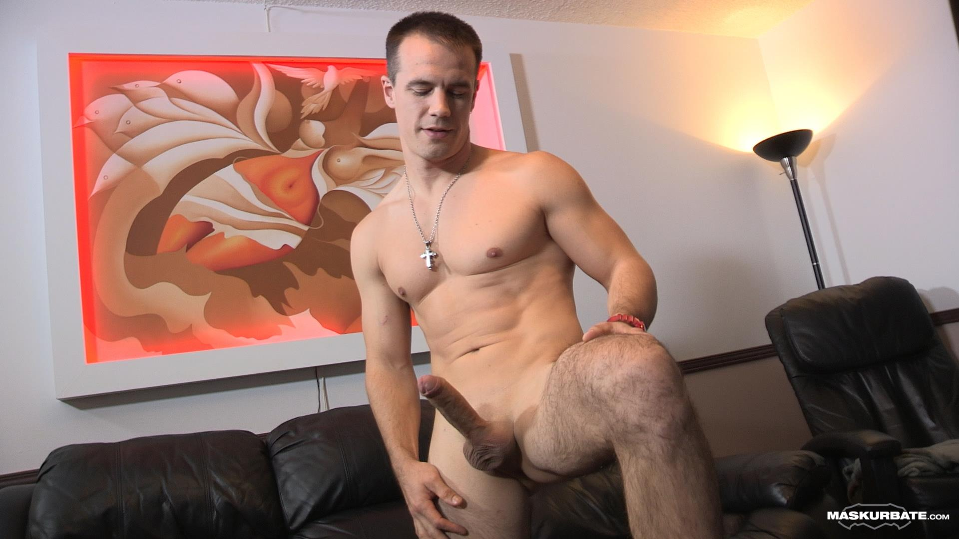 Maskurbate-Ricky-Straight-Guy-Masturbate-Big-Uncut-Cock-Amateur-Gay-Porn-07 Ricky Jerks His Huge Uncut Cock Until Jizz Shoots