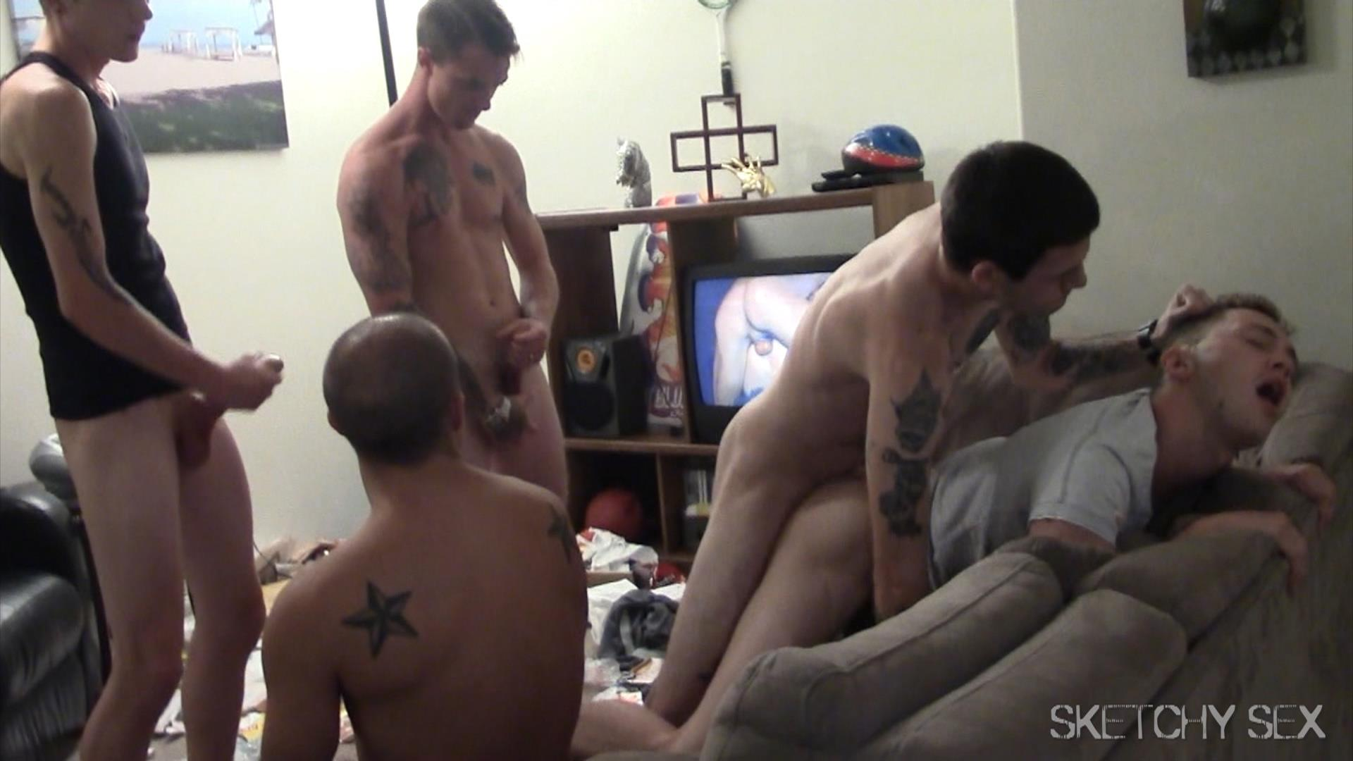Sketchy-Sex-Bareback-Breeding-Party-Amateur-Gay-Porn-16 Hosting An Anonymous Bareback Breeding Party
