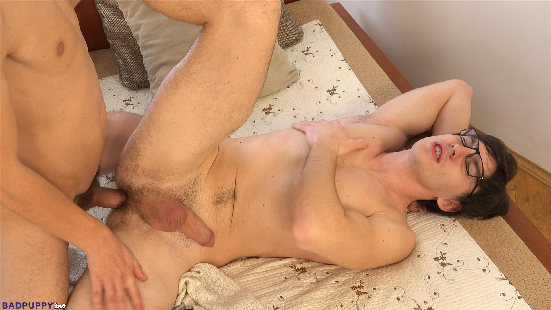 Badpuppy-Petr-Cisler-and-Roco-Rita-Hairy-Ass-Twinks-Bareback-Amateur-Gay-Porn-25 Nerdy Twink Gets Fucked With A Big Uncut Dick In His Hairy Ass