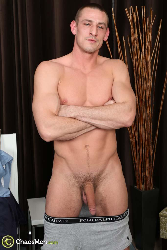 Chaosmen-Kirkland-Straight-Muscle-Hunk-Jerks-Big-Cock-Amateur-Gay-Porn-10 Straight Muscle Hunk Jerks His Big Dick When He Auditions For Gay Porn