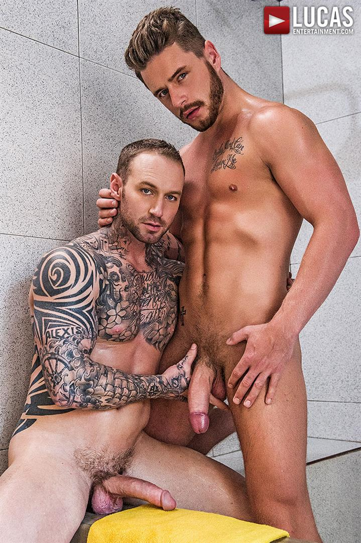 Lucas Entertainment Josh Rider and Dylan Naked Tatted Bareback James Amateur Gay Porn 22 Dylan James Barebacking Josh Rider In The Gym Shower