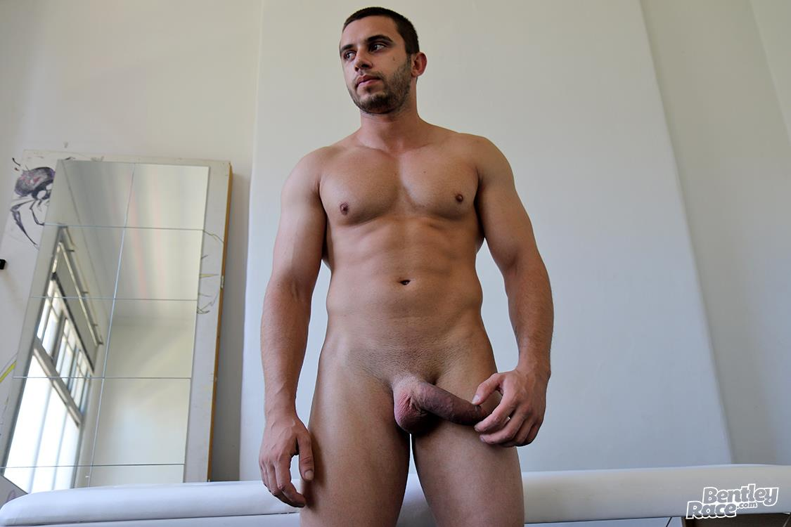 Bentley-Race-James-Nowak-Muscle-Hunk-With-A-Big-Uncut-Cock-Jerking-Off-Video-17 Muscle Hunk James Nowak Jerks His Shaved Thick Uncut Cock